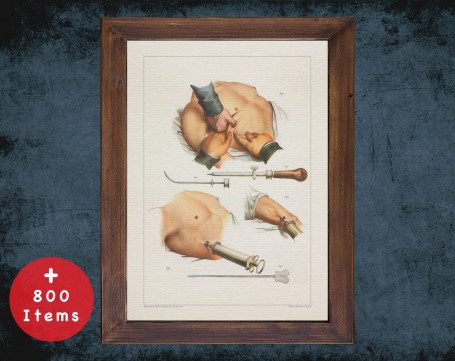 Anatomy art, PUNCTURE UNDER SKIN, medical student gift, Orthopedist and Orthopedic, doctor office decor
