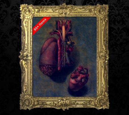 Medical art, vintage anatomy, curiosities oddities,  HEART VALVE ARTERY, medical student gift, doctor decoration