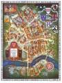 HARVARD University map MASSACHUSETTS vintage wall art campus