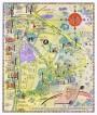 COLGATE University map HAMILTON NY vintage wall art campus