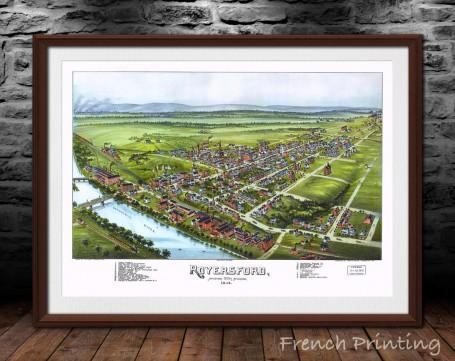 ROYERSFORD PENNSYLVANIA old city map poster print wall art
