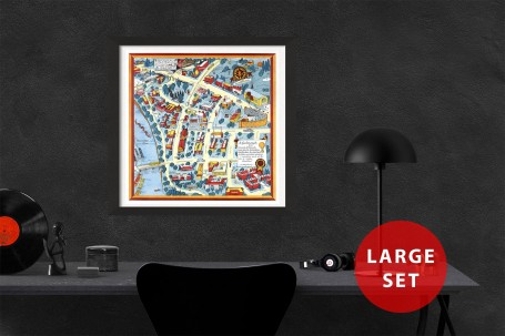 MINNEAPOLIS University map MINNESOTA vintage wall art campus