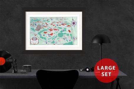 EMORY University map ATLANTA GEORGIA vintage wall art campus