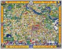 ANN ARBOR University map MICHIGAN vintage wall art campus