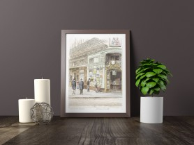 Paris wall art LIBRAIRIE lithograph french antique