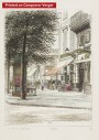 Paris wall art CAFE TORTONI lithograph french antique