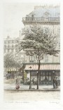 Paris wall art CAFE DURAND lithograph french antique