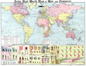 World Map Wall Art 1632 Antique Large Print Restored
