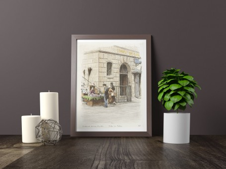 Paris wall art POSTE de POLICE lithograph french antique