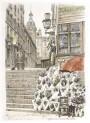 Paris wall art EGLISE NOUVELLE lithograph french antique