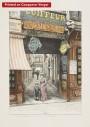 Paris wall art PASSAGE OPERA lithograph french antique