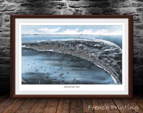 PROVINCETOWN MASSACHUSETTS old city map poster print wall art