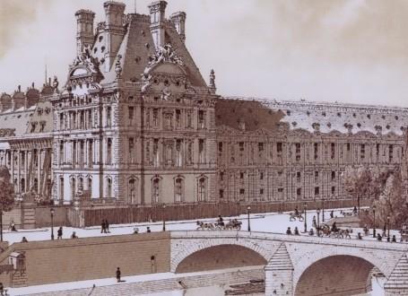 Paris Wall Art - Palais des Tuileries 1869 - Figure 4/5 - paris bedroom decor, french country decor, gift for architect
