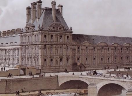Paris Wall Art - Palais des Tuileries 1690 - Figure 3/5 - paris bedroom decor, french country decor, gift for architect
