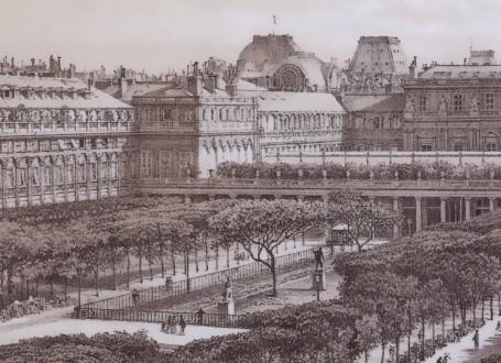 Paris Wall Art - Palais Royal 1880 - Figure 5/5 - paris bedroom decor, french country decor, gift for architect