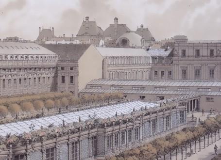 Paris Wall Art - Palais Royal 1794 - Figure 4/5 - paris bedroom decor, french country decor, gift for architect