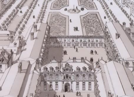 Paris Wall Art - Palais Royal 1679 - Figure 3/5 - paris bedroom decor, french country decor, gift for architect