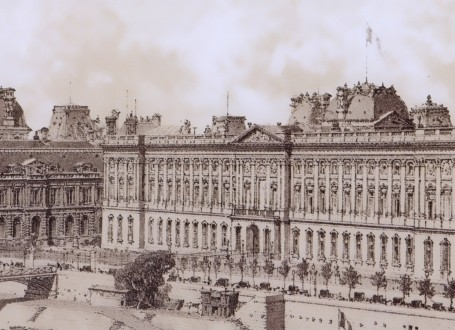Paris Wall Art - Le Louvre 1867 - Figure 5/5 - paris bedroom decor, french country decor, gift for architect