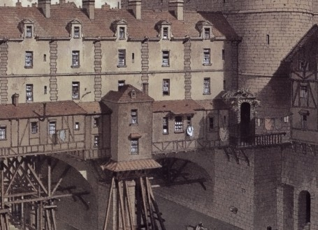 Paris Wall Art - Le Petit Châtelet 1717 - Figure 1/5 - paris bedroom decor, french country decor, gift for architect
