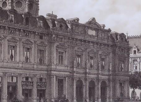 Paris Wall Art - La cité 1876 - Figure 5/5 - paris bedroom decor, french country decor, gift for architect
