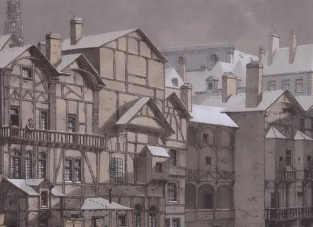 Paris Wall Art - La cité 1650 - Figure 2/5 - paris bedroom decor, french country decor, gift for architect