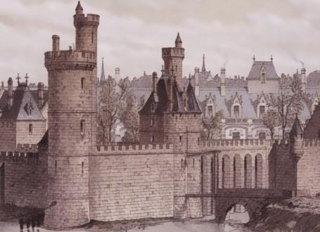 Paris Wall Art - Tour de Nesle 1380 - Figure 1/4 - paris bedroom decor, french country decor, gift for architect