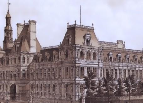 Paris Wall Art - Hotel de ville 1873 - Figure 7/7 - paris bedroom decor, french country decor, gift for architect