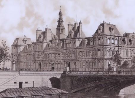 Paris Wall Art - Hotel de ville 1867 - Figure 5/7 - paris bedroom decor, french country decor, gift for architect
