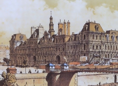 Paris Wall Art - Hotel de ville 1842 - Figure 4/7 - paris bedroom decor, french country decor, gift for architect