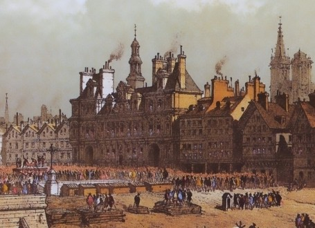 Paris Wall Art - Hotel de ville 1740 - Figure 2/7 - paris bedroom decor, french country decor, gift for architect