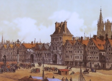 Paris Wall Art - Hotel de ville 1583 - Figure 1/7 - paris bedroom decor, french country decor, gift for architect