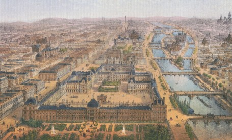 Paris Wall Art - PANORAMA DU LOUVRE